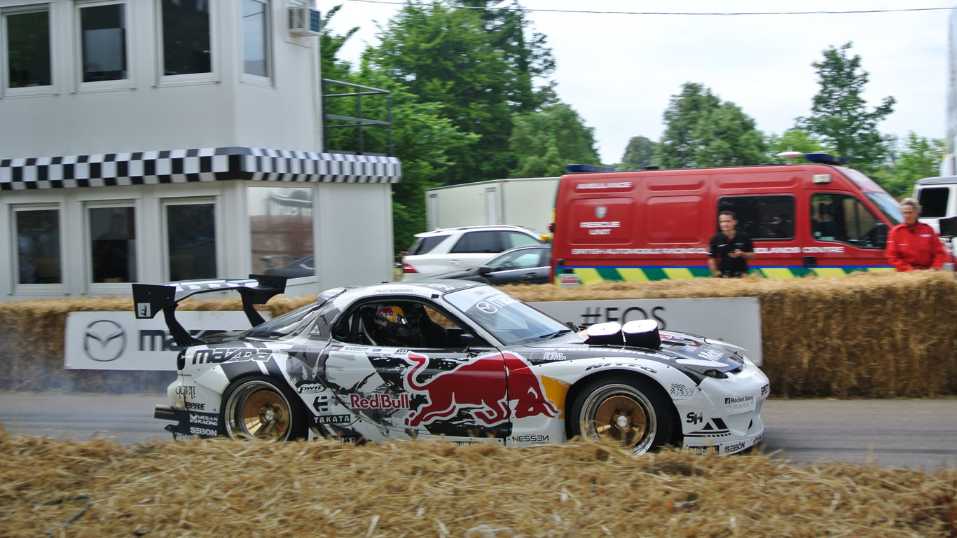 Mad Mike Mazda RX-7 at Goodwood