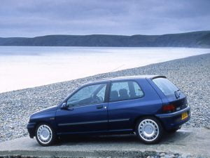 Renault Clio on the beach