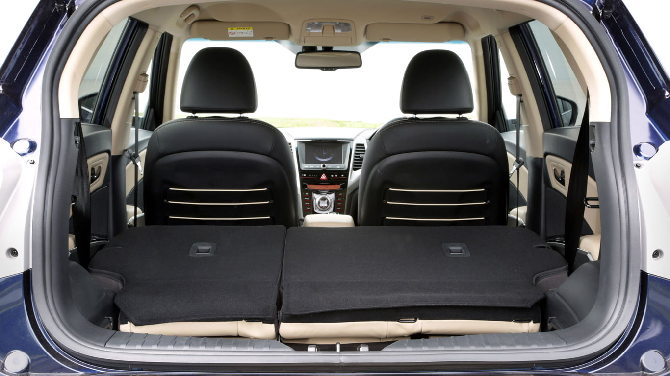 SsangYong Tivoli boot space folded seats