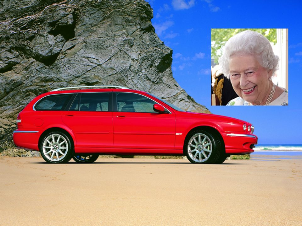 The Queen and the Jaguar X-Type Estate
