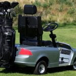 Volvo Golf Cart and clubs