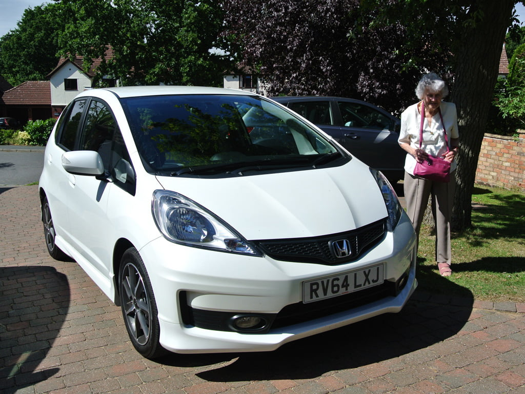Honda Jazz Si and older lady