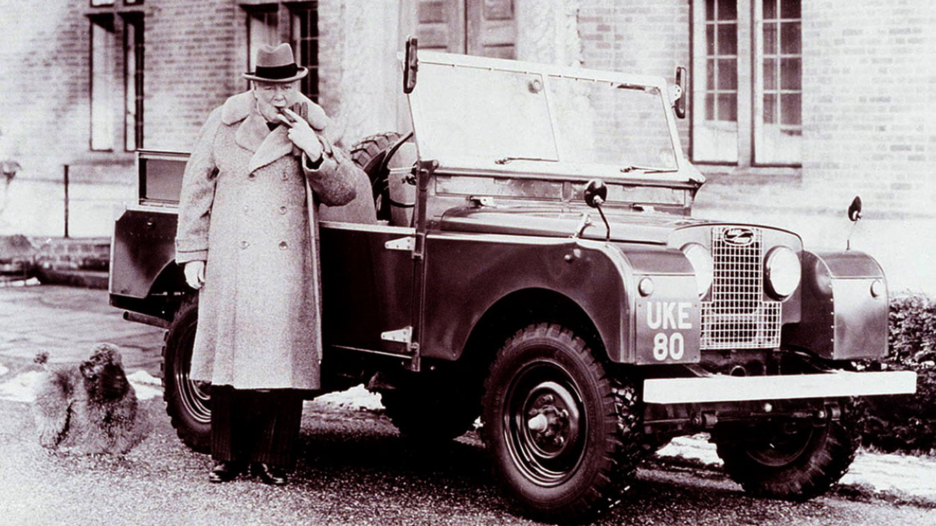 Winston Churchill and Land Rover