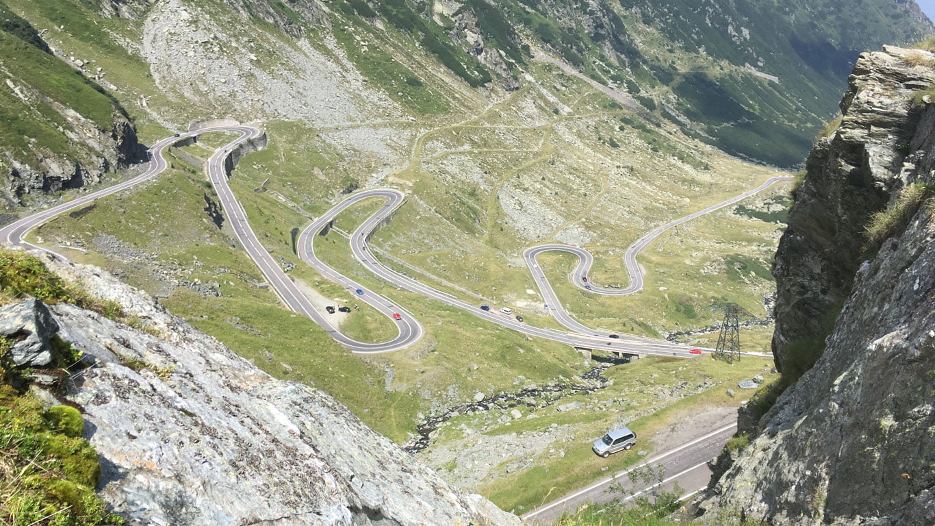 Tom Richards on the Transfagarasan Highway