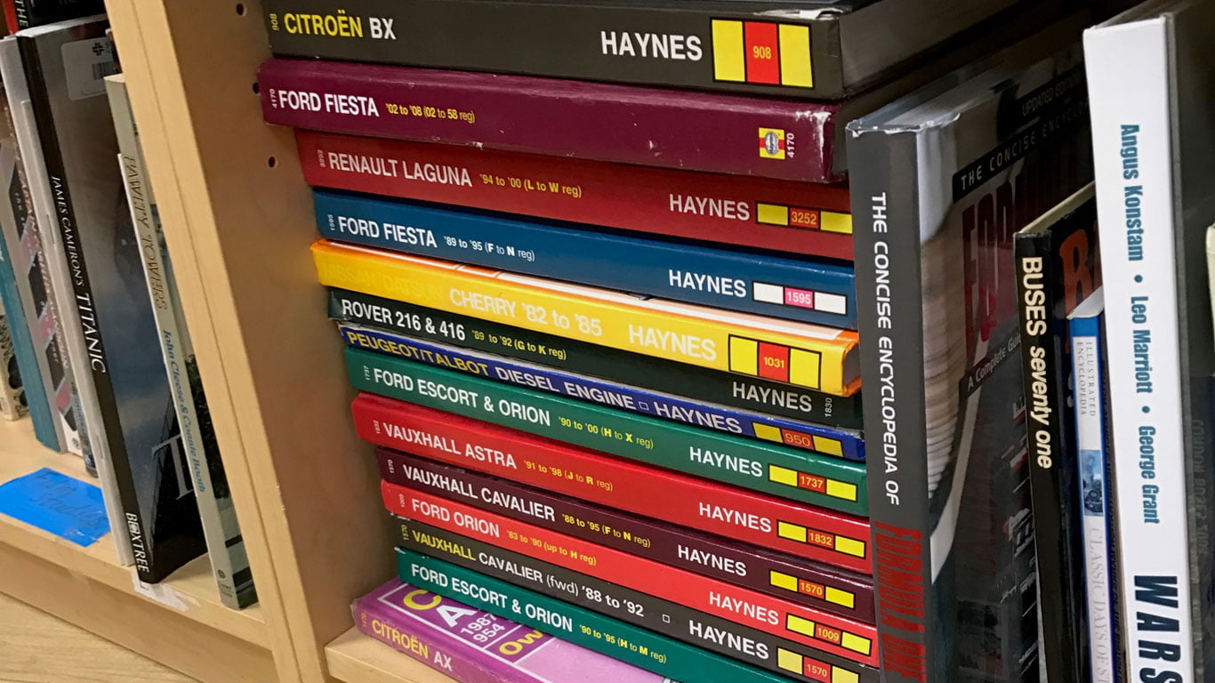The charity shop: where Haynes manuals go to die