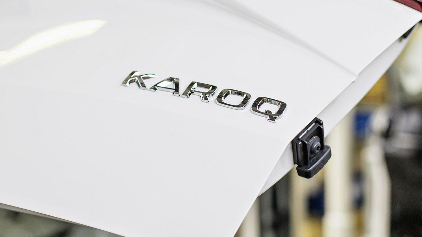 Skoda Karoq badge