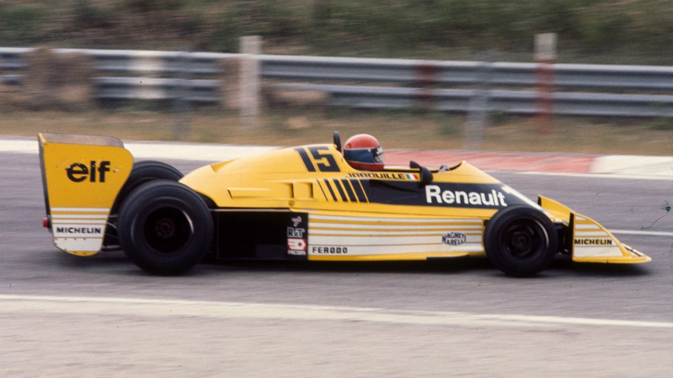 Renault RS01 testing in 1977