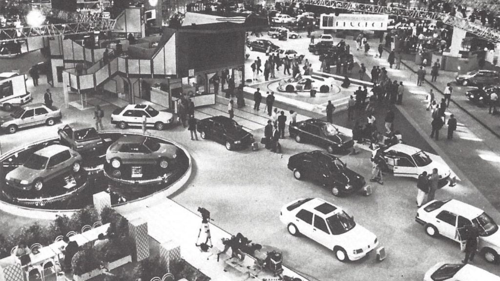 Peugeot motor show stand 1988