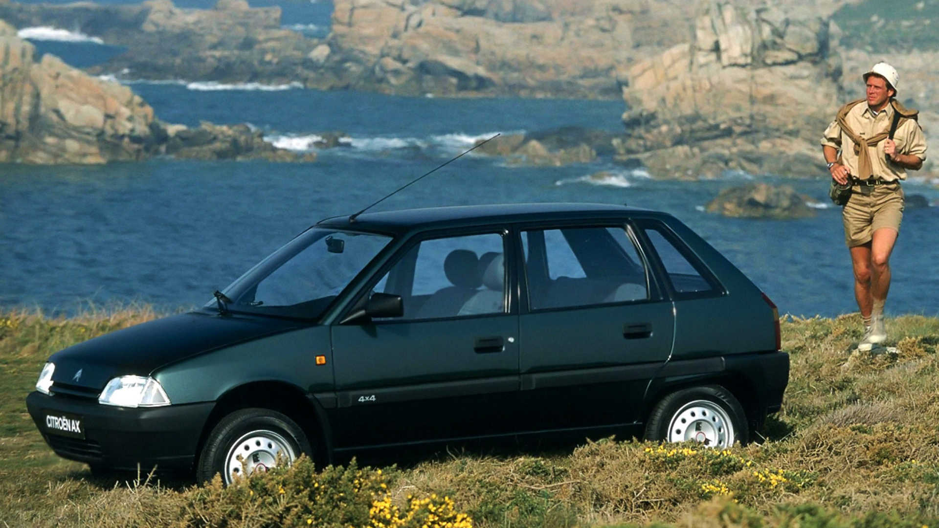 Citroen AX 4x4 on the coast