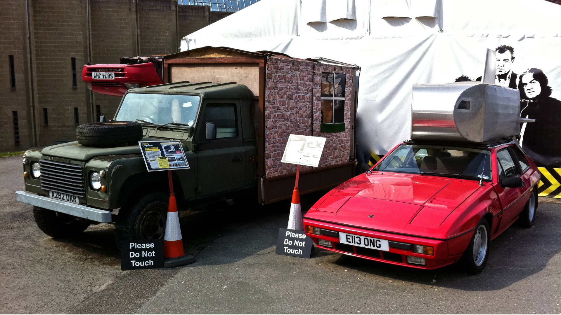 Land Rover 110 and Lotus Excel from Top Gear
