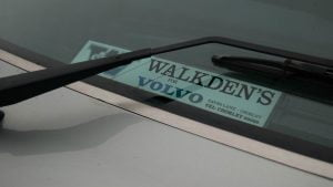 Volvo 340 GL dealer sticker