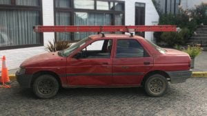 Ford Escort saloon in South America