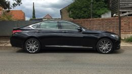 Hyundai Genesis UK side view