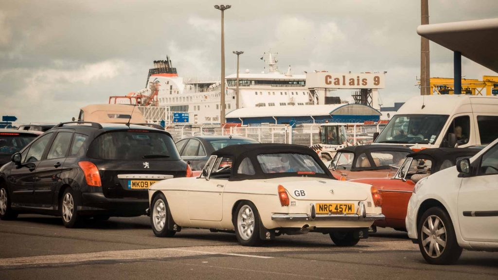 MG at cross-Channel ferry