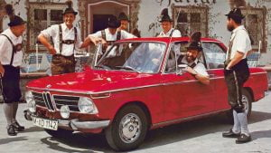 BMW 2002 men with leather