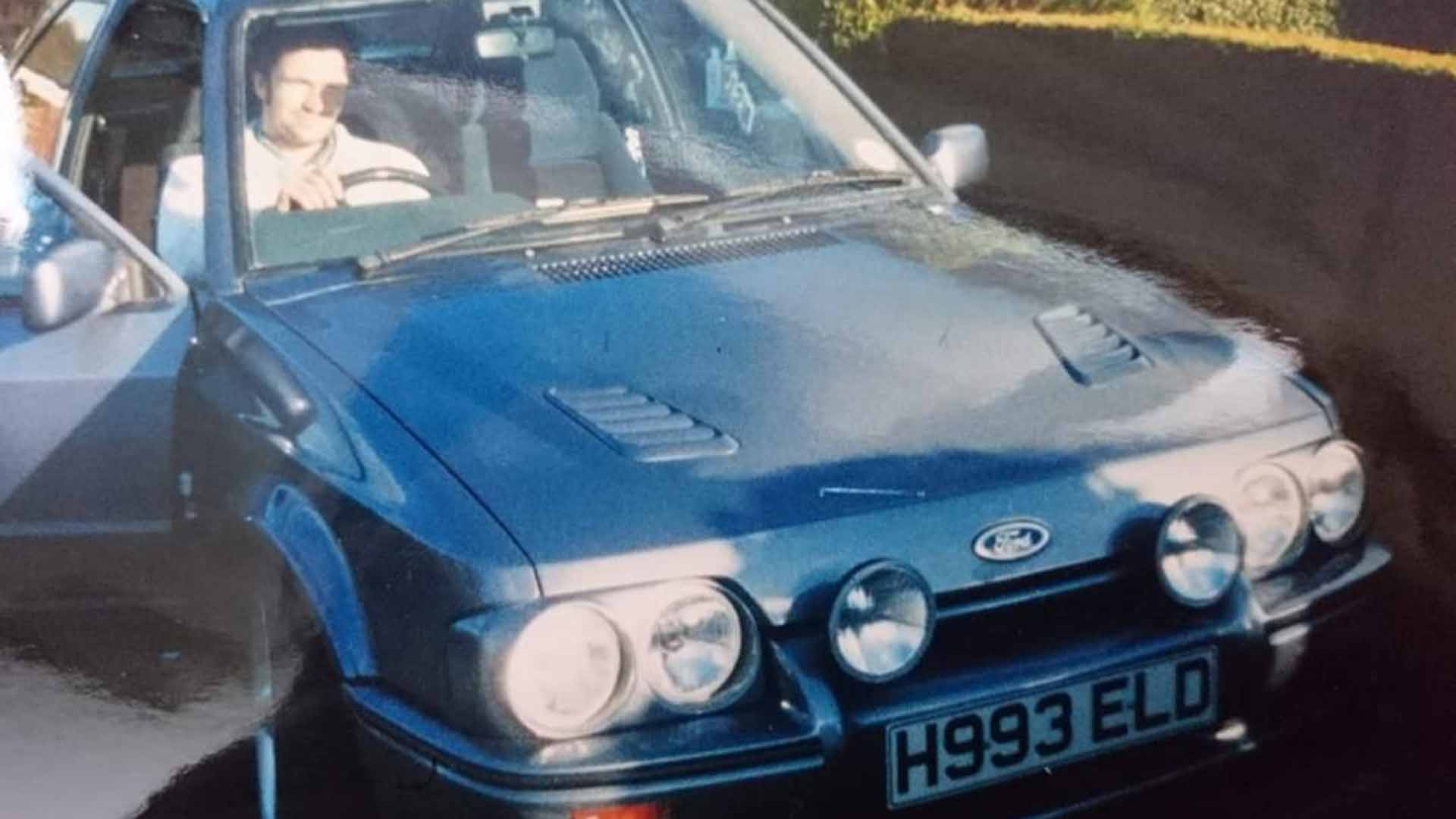 Chris Barker in his Ford Escort RS Turbo