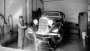 Mercedes being washed in 1940