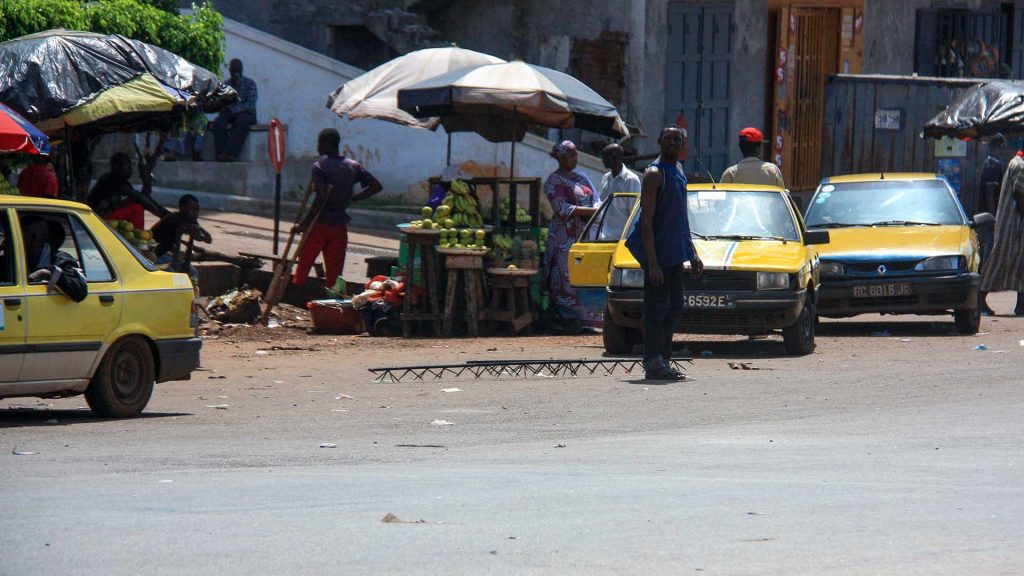 Renaults and Peugeot in Conakry
