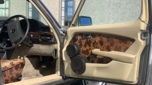 Alpine stereo upgrade and cowhide
